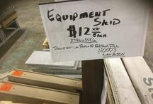 """Equipment Skids 26 1/4"""" W X 35 1/5"""" L / HOOD'S West Alton has Equipment Skids measured at 26 1/4"""" W X 35 1/5"""" L.  These are good for low profile fork truck pickup in the factory or warehouse."""
