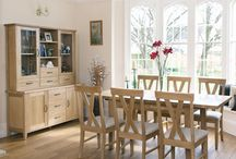 Dine In Style / Transform a drab dining room into a space that's loved by the family this season. Opt for a neutral decorating scheme and personalise with soft furnishings in summery shades. Team a stunning table and chair collection with a dresser or sideboard to store dining items and create a streamlined effect. Visit www.thehomeco.net to see the complete dining range.