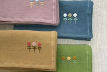 Embroidered household supplies