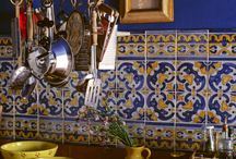 Kitchen blue and yellow