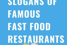 Slogans of famous Fast Food Restaurants in the world