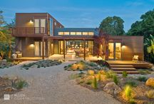 Modern Homes (Exterior) / Allen Construction has been building homes of all styles and sizes for over 30 years. Take a look of some of our more contemporary home exteriors.