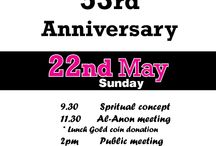 Events-May-2106 / Group Anniversaries and weekends for the Month of May 2016.