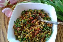 Peas and corn side dish / Recipe of peas and corn side dish