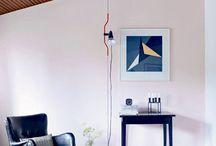 Stue / Sart farve på væggen i stedet for hvid