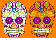 Sugar Skulls Embroidery Designs / machine embroidery designs Fun and colourful machine embroidery designs.. Celebrate the Day of the Dead! http://cindysembroiderydesigns.com/Sugar-Skulls.html