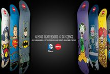 DC Comics x Almost Skateboards / Collaboration between DC comics and Almost Skateboards