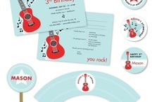 Adrian's 3rd Birthday / Rockin 3rd birthday party. Music theme. / by Samantha Thrall