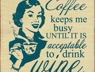 Coffee and Wine / Because I love both. And also, why not. #coffee #wine #lainaturner / by Laina Turner