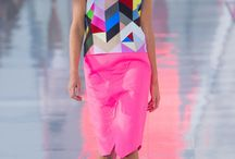 Runway / Love the colors and print.