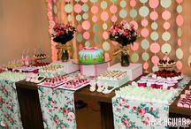 festa rosa e verde
