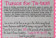 Tunics For Ta-Ta's: Breast Cancer fundraiser / by Shop Lila Rose ~ A Chic Boutique