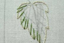 Embriodery Leaves
