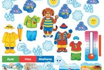 Learning materials/Materiales de aprendizaje / Flashcards, cuadernos de trabajo y paneles de felpa / by Growing Bilingual