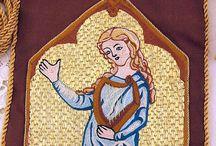 Embroidery - Opus Anglicanum (Recreations) / Split stitch needlepainting.