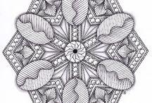 Grafisk tegninger / Sort/ hvid streg tegninger