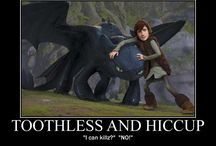 Toothless and Hiccup ❤️