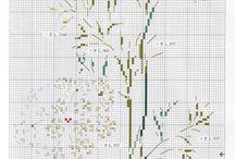 вышивка цветы белые