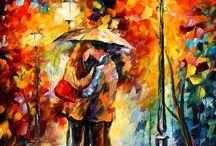 Kiss under the rain - Leonid Afremov, LOVE IT!