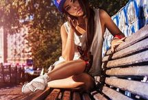 Female Poses Alone Hat