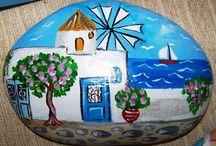ζωγραφική σε πέτρες