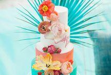 gâteau mariage tropical