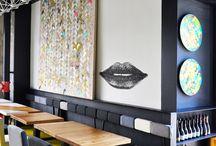 Decoración bar/cafetería / Decoración bar/cafetería estilo moderno