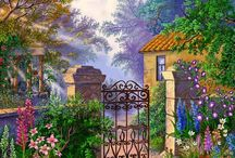 Art cottage, garden...