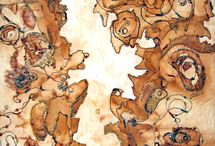 Rust and natural dyeing textile art / Natural dyes, rust dyeing, textile art