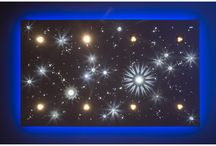 STARRY SKY BOARD with crystals and fiber optics / Serial production