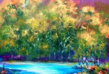 Thelma Zambrano / Thelma Zambrano is a prolific and interesting artist from Mexico. Her artwork always features a lot of beautiful color and often is of nature and animals/birds.