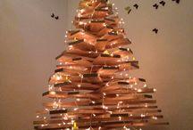DIY / Christmas tree made of wood