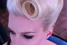 Pin-up hair styling