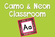 Camo and Neon Theme Classroom / Ideas for how to do a camo theme classroom