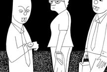 Black and White Cartoons / Some dark humour from Baggelboy