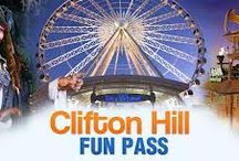 """Clifton Hill, Niagara Falls Favorite Experiences"" Contest / Do you have a favorite Clifton Hill moment in Niagara Falls? Pin your favorite thing about Clifton Hill and 1 random winner will win 4 Clifton Hill Fun Passes! Contest ends Tuesday, May 6th, 2014.   Here's what you have to do:  1. Follow us on Pinterest http://www.cliftonhill.com/pin  2. Create a board called ""Clifton Hill, Niagara Falls Favorite Experiences"".  3. Pin at least 5 of your favorite Clifton Hill experiences.   4. Email the link to your Pinterest board to clynn@cliftonhill.com.   / by Clifton Hill"