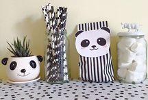 Panda Dekoration / Mottoparty-Idee für den Kleinkindgeburtstag, DIY, Kinderzimmer-Deko, Wandgestaltung, Tischdekoration, Party-Deko, 1. Geburtstag