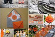 wedding decorations orange