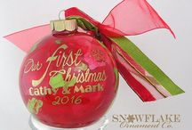 Our First Christmas Personalized Glass Ornament
