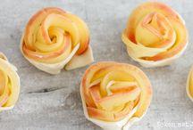 Appel bladerdeeg (roos vorm) nagerecht