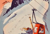 Alps vintage posters / Vintage posters of the Alps