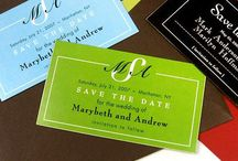 Invites & save the date & favours