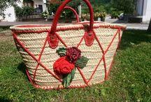 bolsa con dos rosas