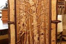 Выжигание - Pyrography / Выжигание по кости и дереву - Pyrography on bones and tree