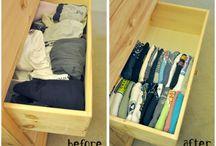 Organized tshirt drawer