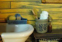 Dollhouse -Miniature bathroom / bathroom dollhouse 1:12 casa de muñecas