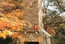 OUTDOOR FIREPLACES! / I love outdoor Fireplaces! So Romantic! ALL BEAUTIFUL OUTDOOR FIREPLACES!