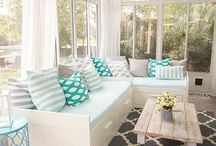 Light and Bright Interiors / Home design and decor that has light colors, good lighting, and an airy cheerful feel.