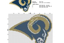NFL National Football League free cross stitch patterns / NFL National Football League free cross stitch patterns