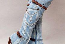 Jeans stivali